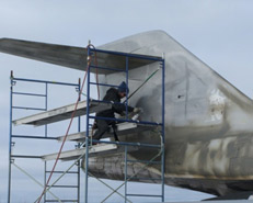 Working on the aircraft Fall 2010